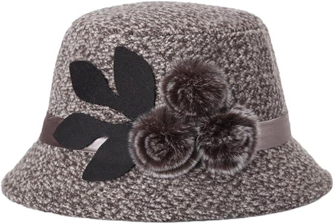 Westeng 1Pcs Gorro de invierno para Mujer Moda Flores Sombreros de ...