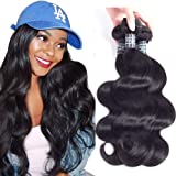 Amella Hair Brazilian Virgin Hair Body Wave 3 Bundles 8A 100% Unprocessed Brazilian Body Wave Remy Human Hair Extensions …