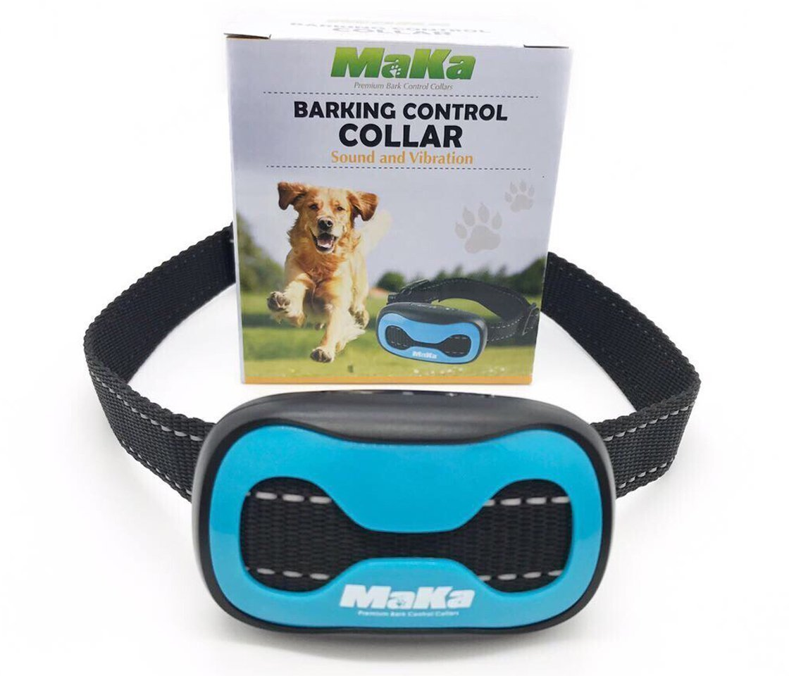 MaKa Dog Barking Control Training Collar for Small & MEDIUM Sized Dogs- Hum
