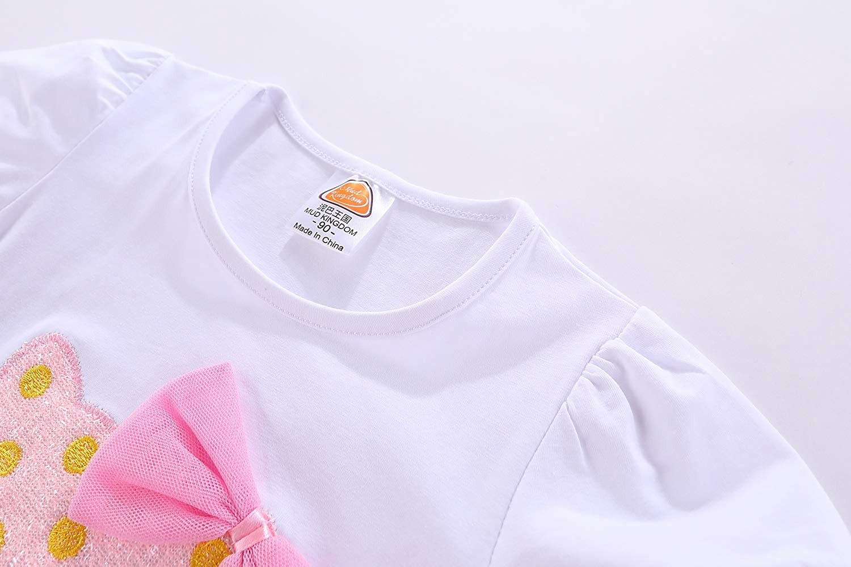 Mud Kingdom Little Girl Clothes Set Pink Cat Summer Size 5