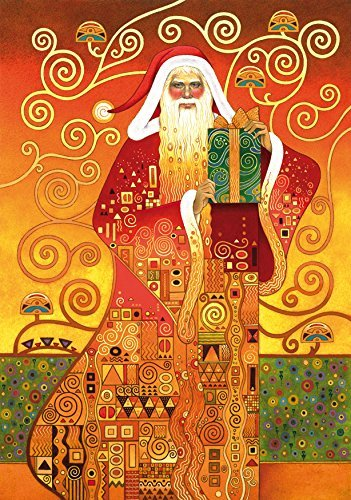 Wentworth Klimt Santa 500 Piece Wooden Gustav Klimt Jigsaw Puzzle