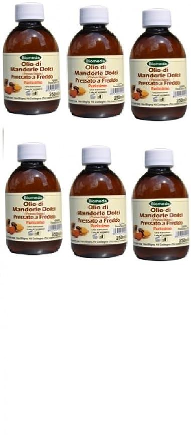 biomeda – 6 conf de aceite de almendras 1 litro puro, spremuto a frío