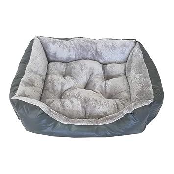 Cisne 2013, S.L. ¡Oferta ÚLTIMAS Unidades! Cama para Perro y Gato Gris DE Polipiel Y Terciopelo L 85 * 70cm.: Amazon.es: Productos para mascotas