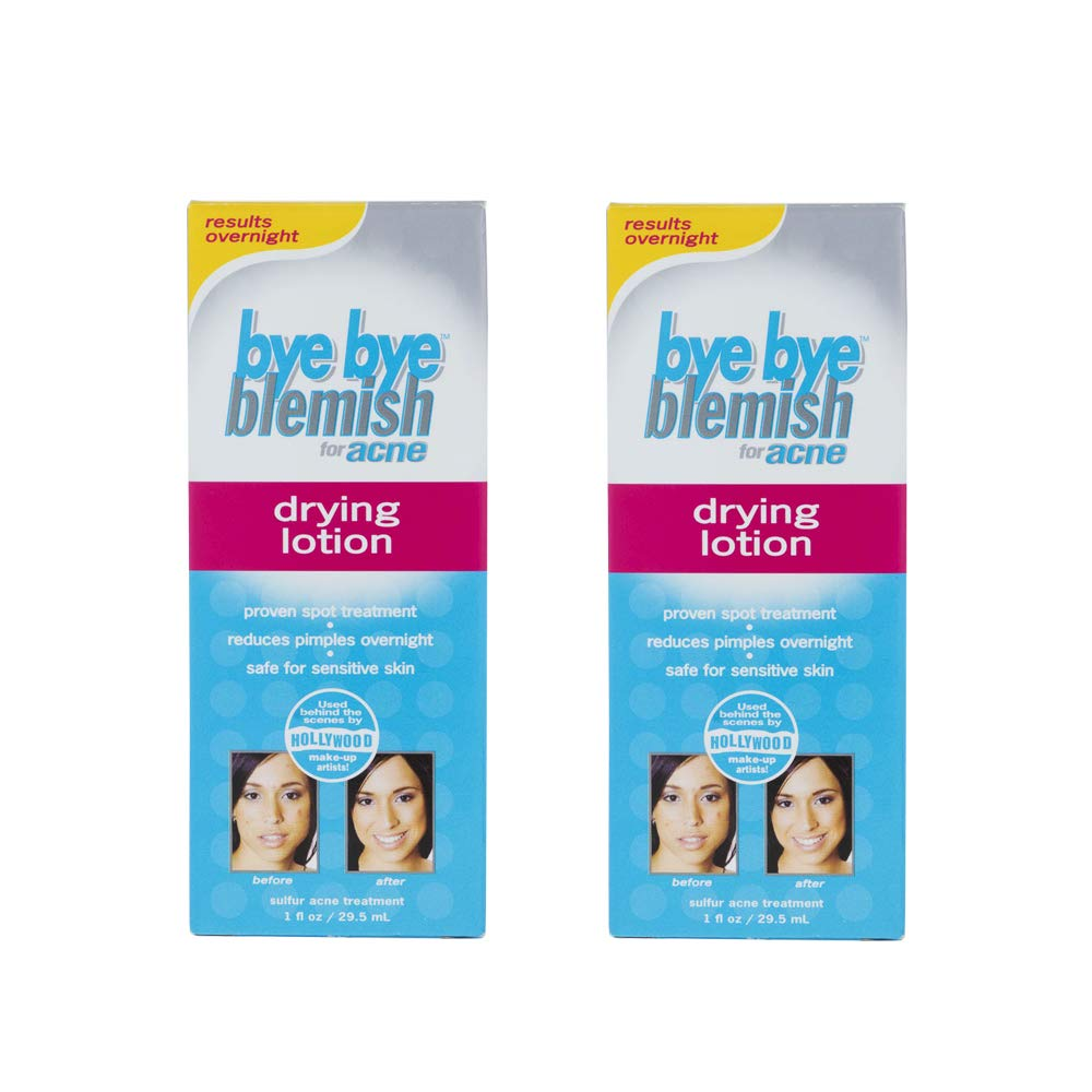Bye Bye Blemish Acne Drying Lotion, Reduce Pimples Overnight, 1oz x 2 pack by Bye Bye Blemish