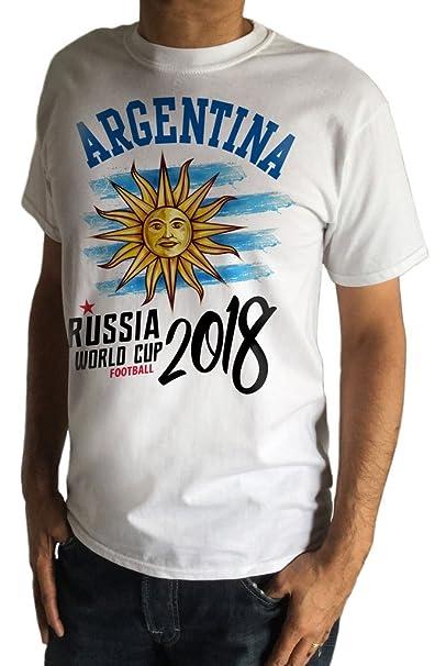 Irony Camiseta para Hombre Copa Mundial de Fútbol Argentina Rusia 2018 Imprimir TS1431