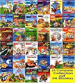 the complete asterix box set 34 titles the complete asterix collection rene. Black Bedroom Furniture Sets. Home Design Ideas