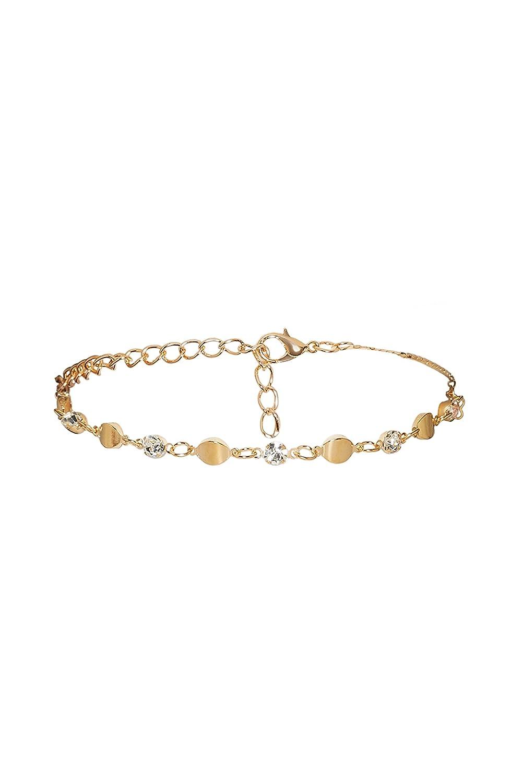 Anklet Feet Pendants Oval Charm Minimalist Feet Bracelet Bangle Womens Jewelry (Golden)
