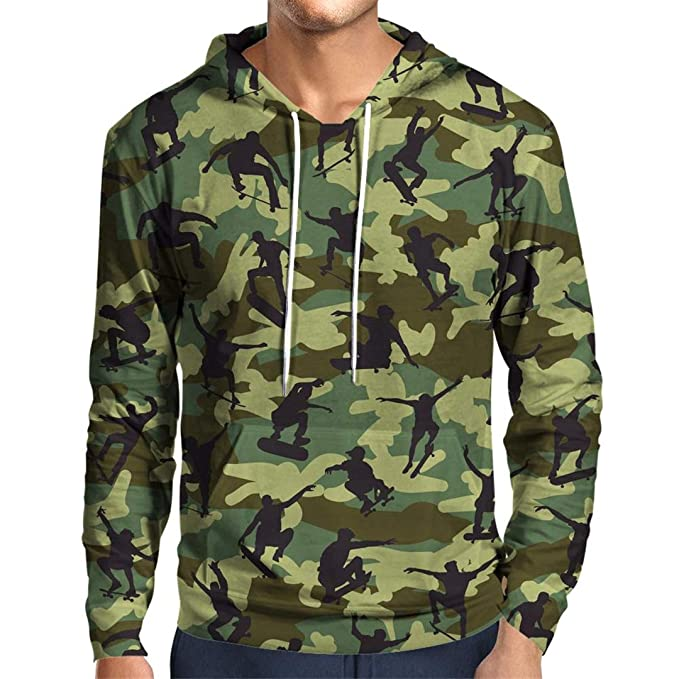 Camouflage 3D Hoodie Sweatshirt Men Women Autumn Winter Clothing Long Sleeve at Amazon Mens Clothing store: