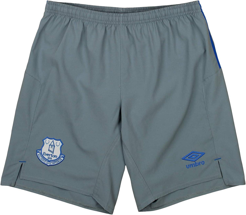 Away Shorts Grey Umbro Mens Everton F.C