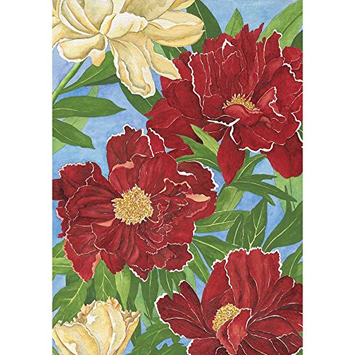 Magnolia Red Peonies Garden Flag, 13