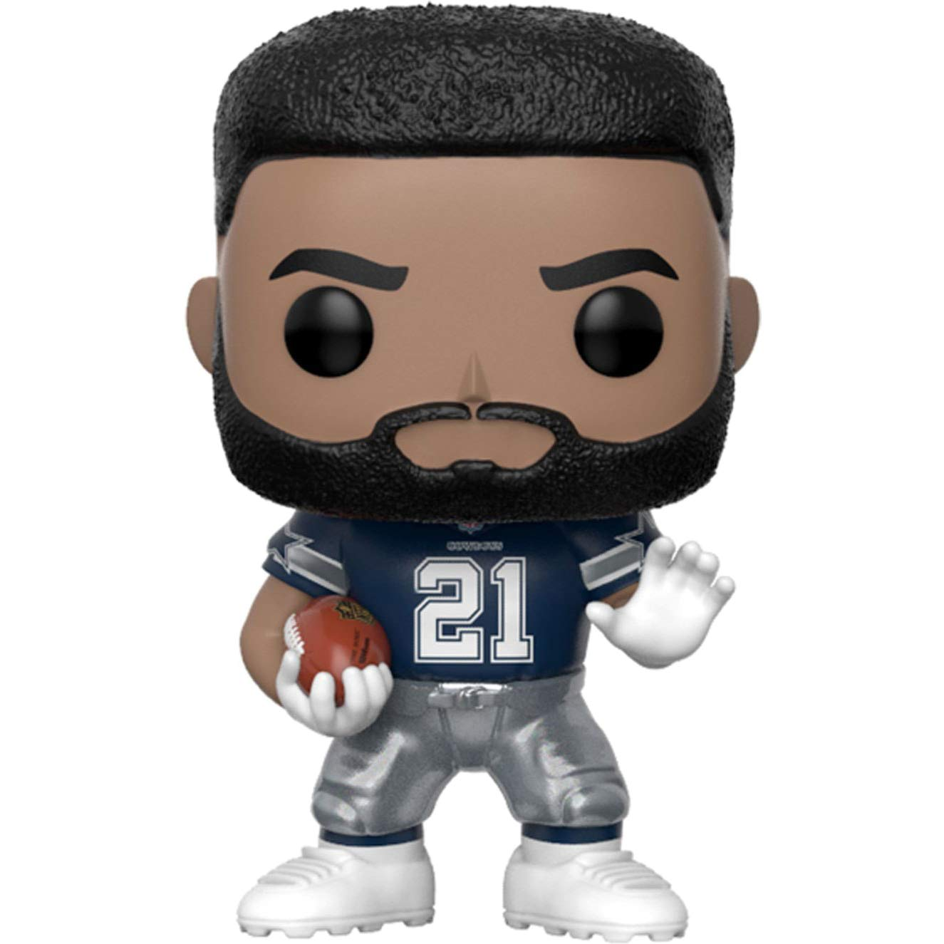 Dallas Cowboys BCC941N88 #068 // 31721 - B Football Vinyl Figure /& 1 PET Plastic Graphical Protector Bundle Funko Ezekiel Elliott : NFL x POP