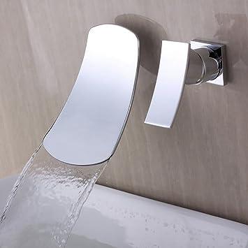 Grifo Accesorios de baño, fáciles de Usar y amigables pa En la Pared Caseta Oculta Lavabo de Tres Piezas Lavabo XIAHE: Amazon.es: Hogar