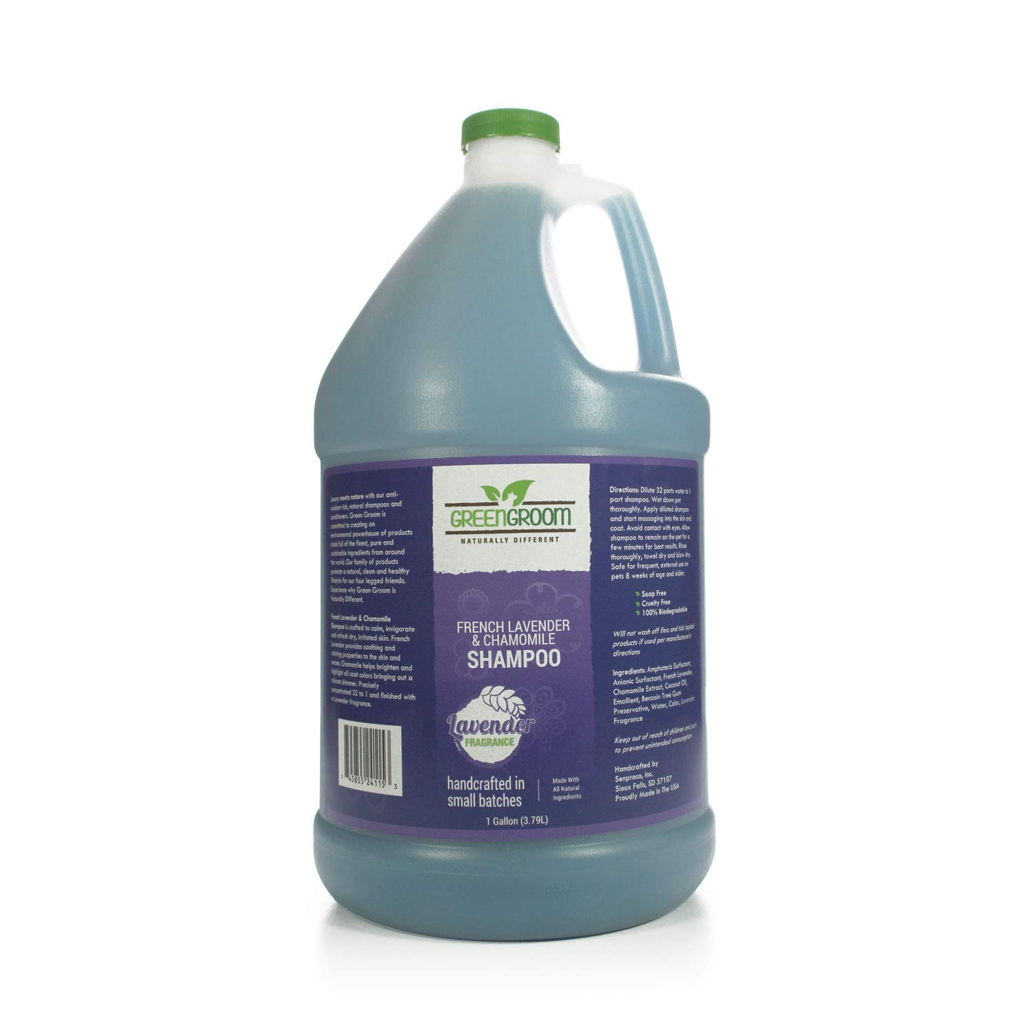 Green Groom French Lavender & Chamomile Aromatherapy Shampoo, 1 Gallon by Green Groom