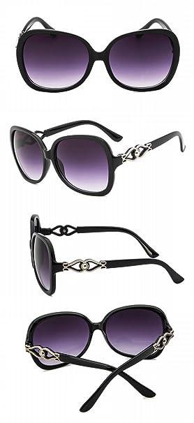 Gafas de Sol Grandes Del Metal de Las Señoras de Las Gafas ...