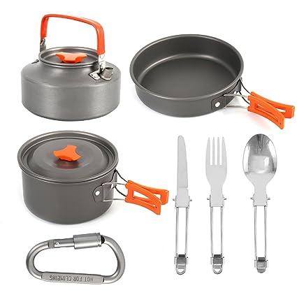 Amazon.com: Aushop - Juego de ollas y sartenes ligeros para ...