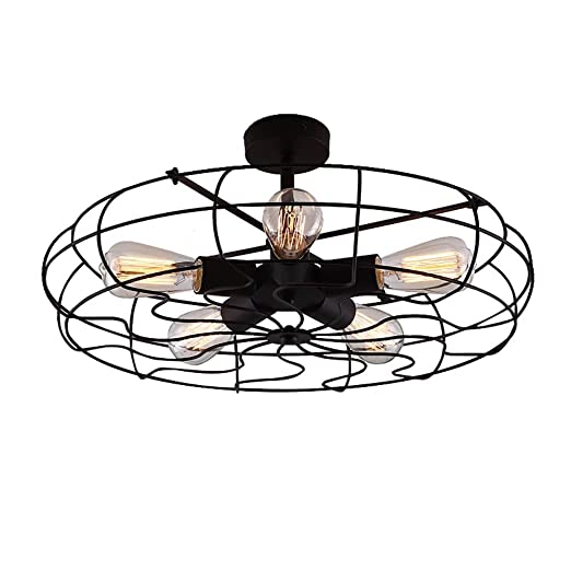 Leihongthebox LED modernas lámparas de techo ventilador ...
