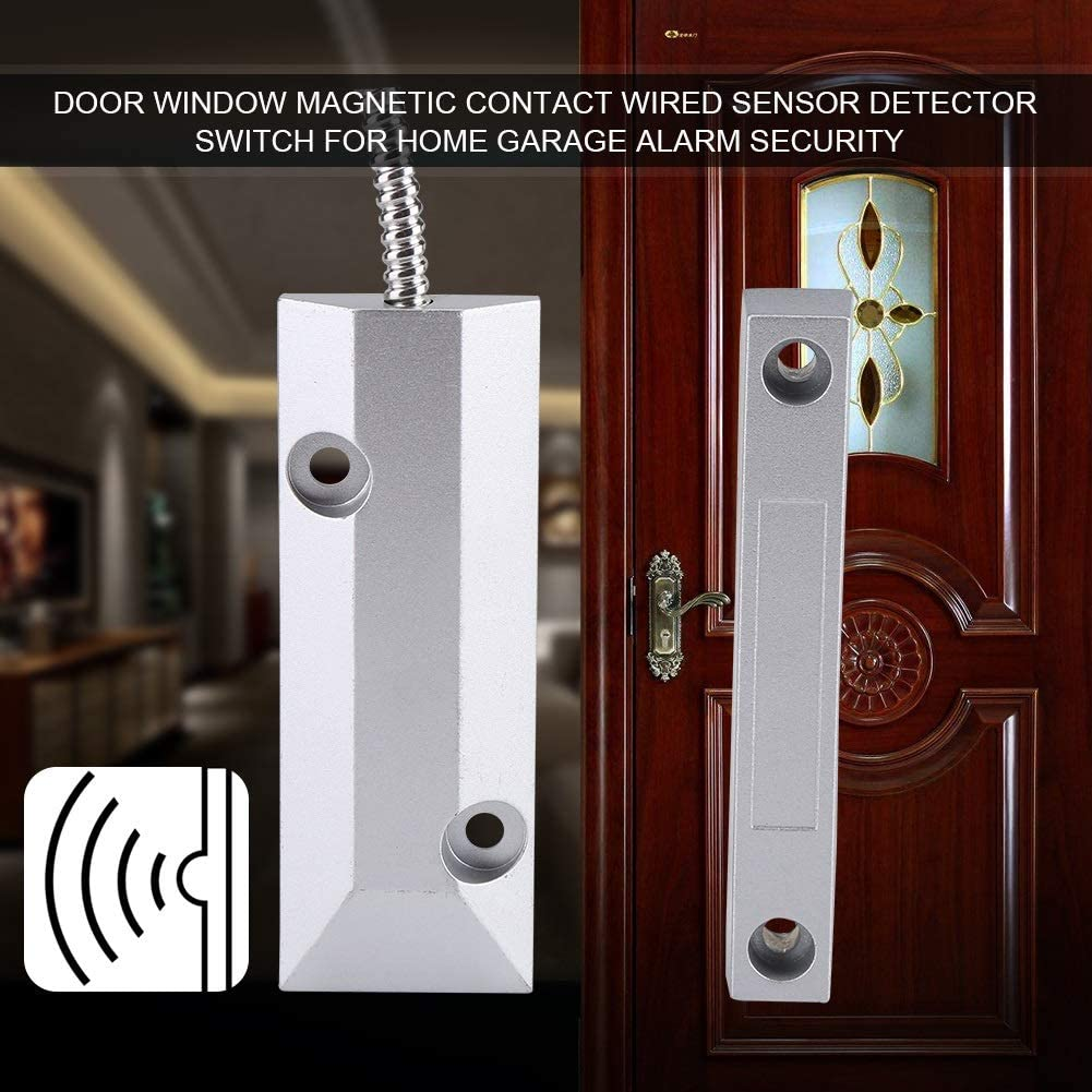 BDBDW Magnetic Switch Home Security Wired Sensor Detector Switch Door Window Contact Switch Alarm
