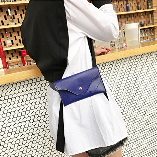 Black Messenger Envelope Splice Clutch Color Handbags Women Evening Pocciol Wallet Pure Elegant Blue Leather PYWq7