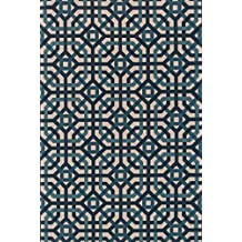 """Loloi Rugs, Vero Collection - Natural/Teal Area Rug, 2'-3"""" x 3'-9"""""""
