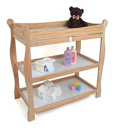 Natural Changing Table, Baby Furniture, Dimensions 37.5x19x37.5, Includes  Changing Pad