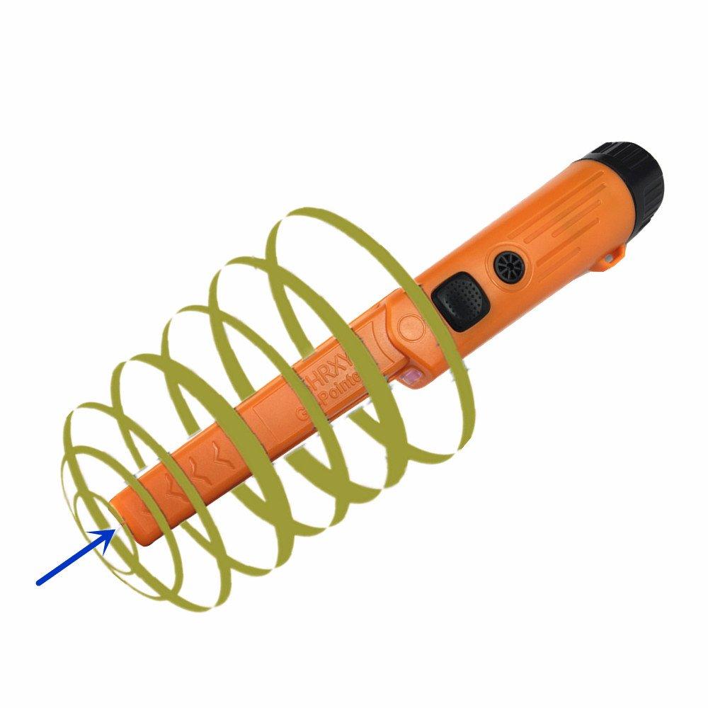 gp-orange D/étecteur de m/étaux /à main portable Pointer Portable or Hunter GP-POINTERII Imperm/éable /à leau Orange or r/églable Finder avec LED pour la lumi/ère faible Utilise /…