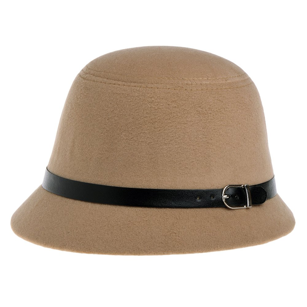 Amazon Vbiger Bowler Hat Fedora Derby Hats Vintage Cloche Bucket For Women Beige Clothing