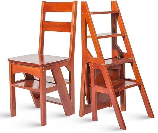 HAIPENG Taburete Escalera De Madera Escalera De Madera Comida Silla Taburete Estante Asientos Stands Plegable Sólido 4 Pasos Uso Dual Utilidad Mueble 3 Colores Disponible 90x38x35cm (Color : Rojo) : Amazon.es: Hogar
