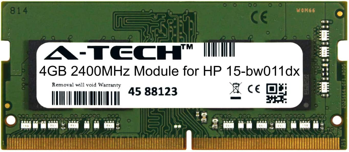 A-Tech 4GB Module for HP 15-bw011dx Laptop & Notebook Compatible DDR4 2400Mhz Memory Ram (ATMS381122A25824X1)