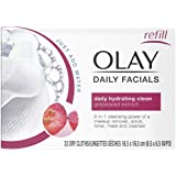Olay 4-in-1 Normal Daily Facial Cloths, 33Count 33-Count (Pack of 2)