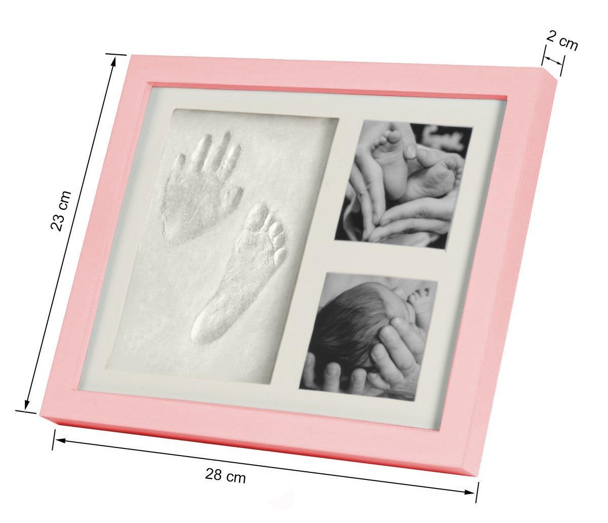 Baby Bilderrahmen für Handabdruck & Fußabdruck | Geschenk zur Geburt ...