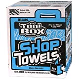 SELLARS WIPERS Toolbox Blue Center-Pull Box Shop Towels (200 Sheets Per Box), 10