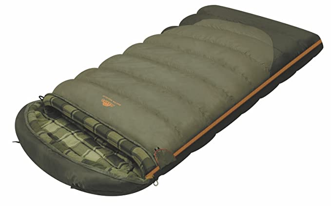 ALEXIKA 9254.0107L Siberia Wide Plus - Saco de dormir (cremallera en el lado izquierdo, 100 x 195 +35 cm), color verde: Amazon.es: Ropa y accesorios