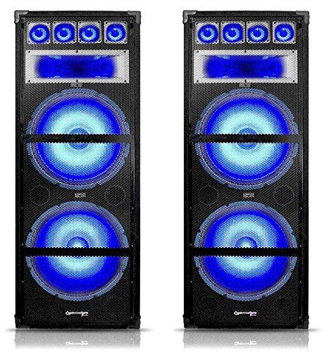 (2) Technical Pro VRTX215LED Dual 15