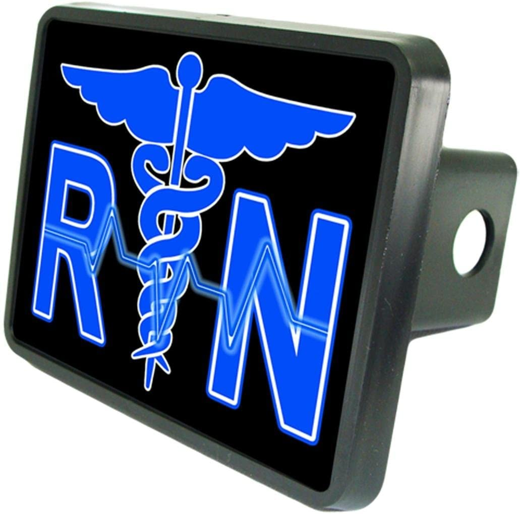 Registered Nurse RN Custom Hitch Cover 1 1//4 Receiver from Redeye Laserworks