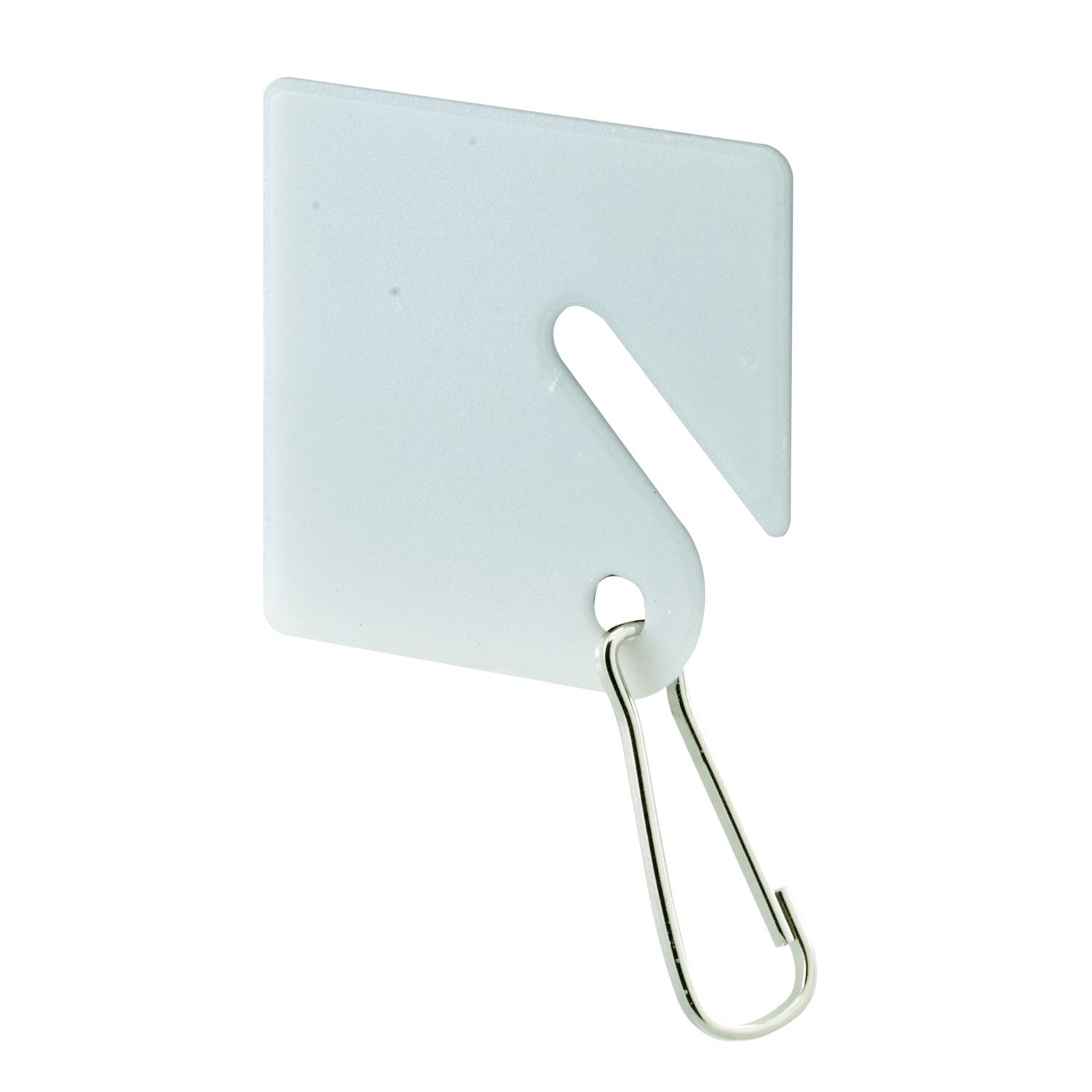 Prime-Line MP4269 Key Plastic Tags, White, Steel Hook, Pack of 100, 100 Piece