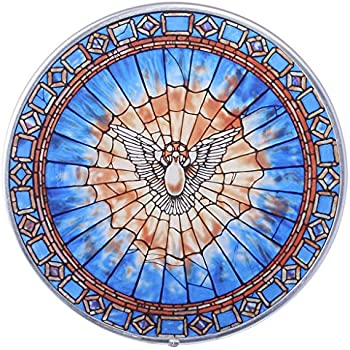 Amazon Com Stained Glass Panel The Holy Spirit Round