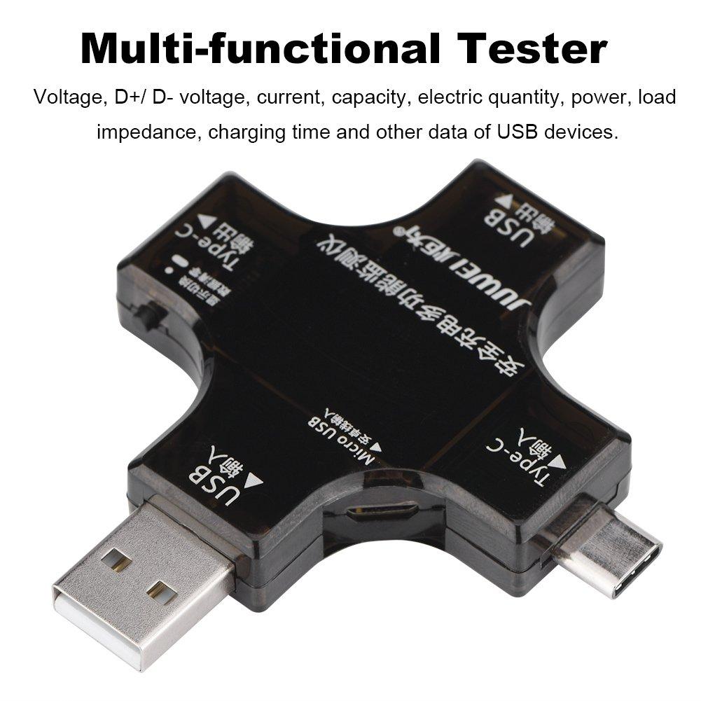 Richer-R multifunzionale USB tipo C sicurezza tester tester di alimentazione corrente metro PD schermo a colori
