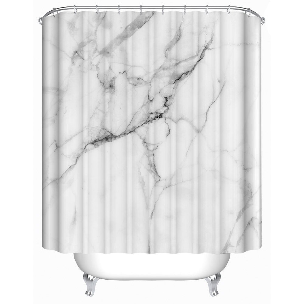 Amazon Decorative Wild Symbol Marble Pattern Polyester Fabric Bath Ideas Bathroom Shower Curtain Home Kitchen