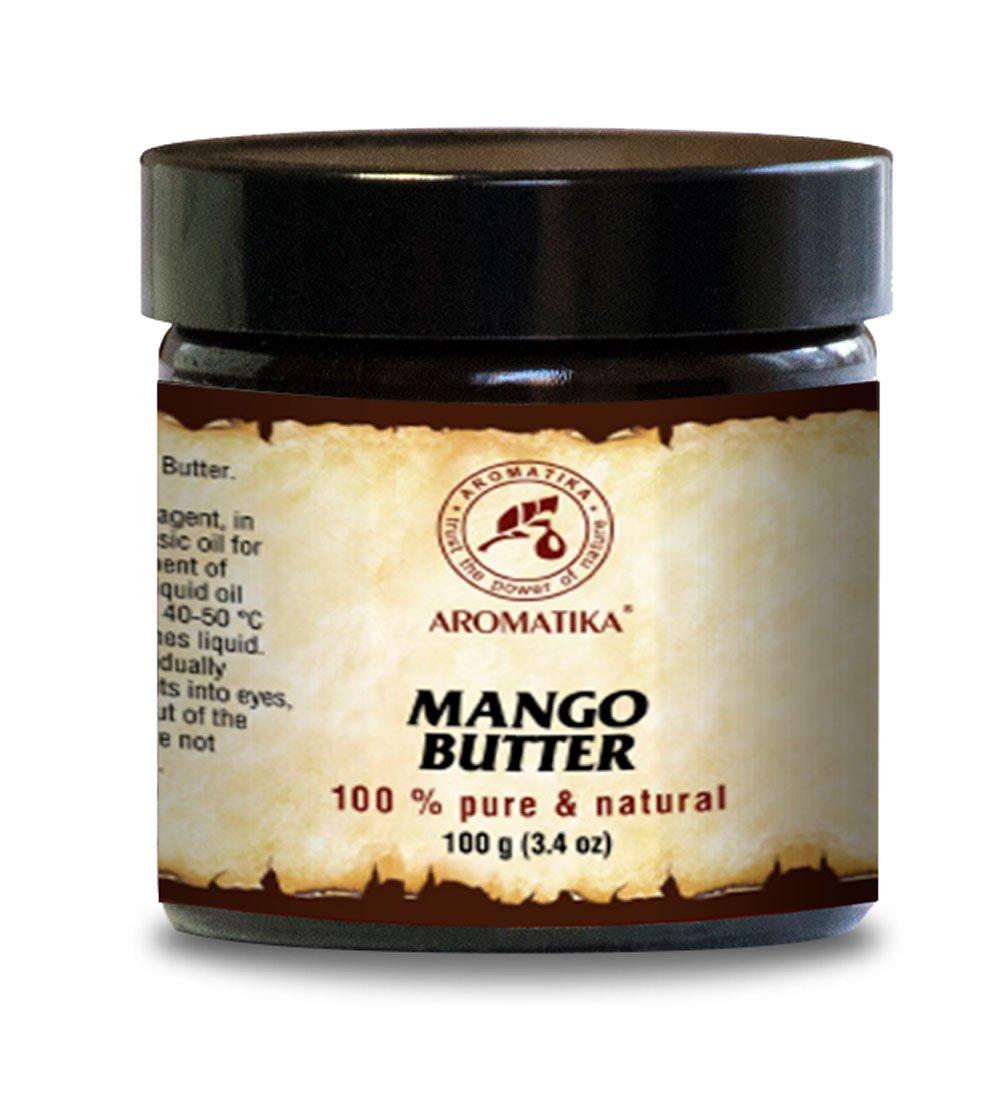 Burro Di Mango - Burro Di Mango 100% Puro E Naturale - Bottiglietta Di Vetro Da 100g - Mangifera Indica - Indonesia - Raffinata - Olio Per Il Corpo - Cura Del Viso Intensa - Corpo - Capelli - Pelle - Unghie - Mani - Labbra - Per Massaggi - Cosmetici - Cura