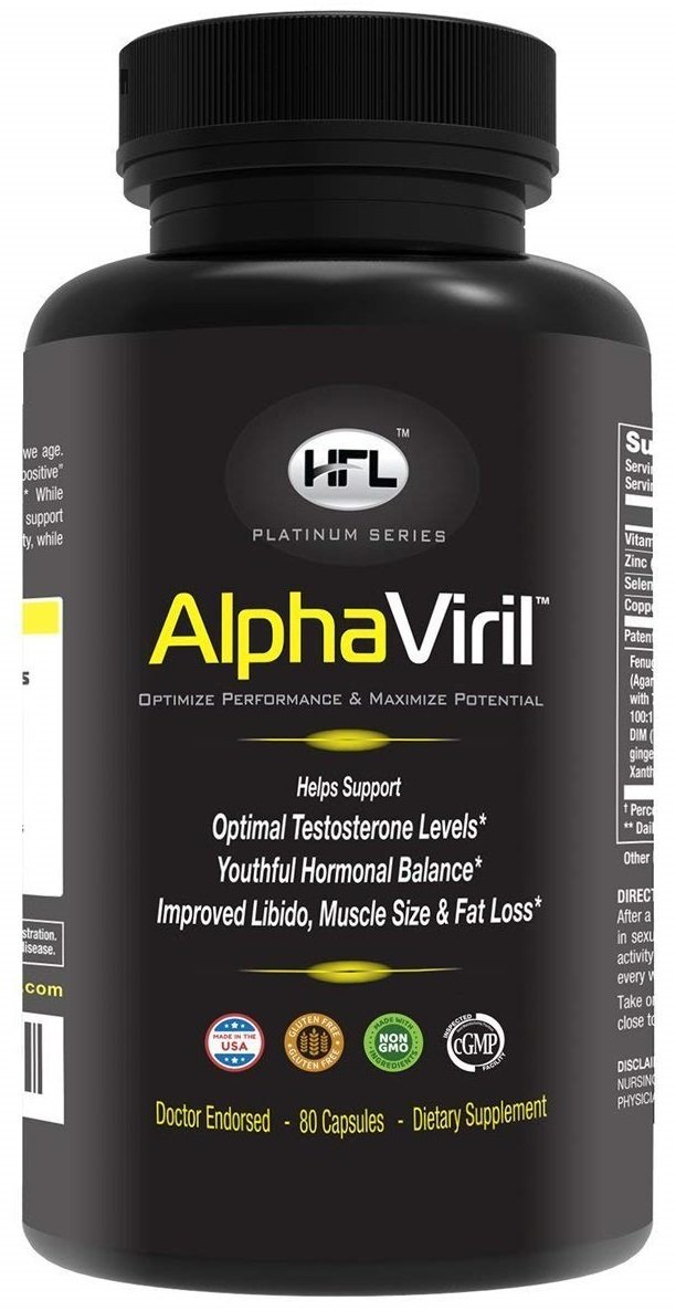 AlphaViril by Dr Sam Robbins | Natural Testosterone Booster, Increases Libido, Sex Drive, Strength, Energy, Stamina, Builds Muscle | Made in USA | Tongkat Ali Extract, Horny Goat Weed, Zinc.