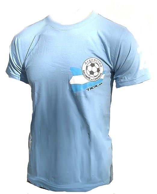 TICILA Herren T-Shirt Torreros la Argentina Argentinien Argentinia Fussball WM EM Funda Ventilador Tee