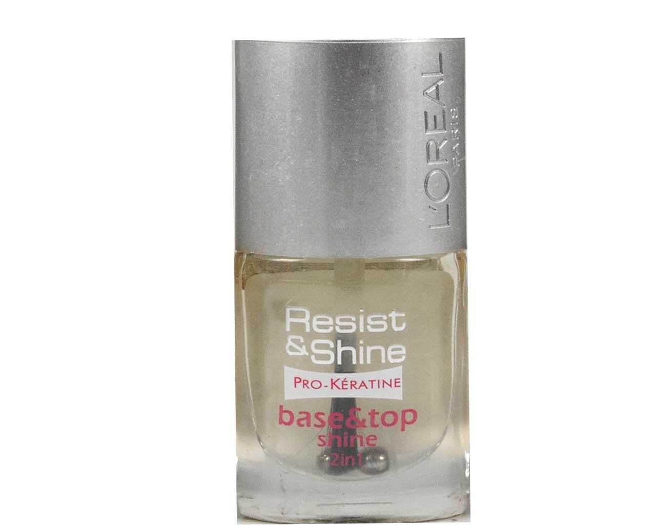 L'Oréal - Base et Top Coat - Resist & Shine - Base & Top Shine 2 en 1