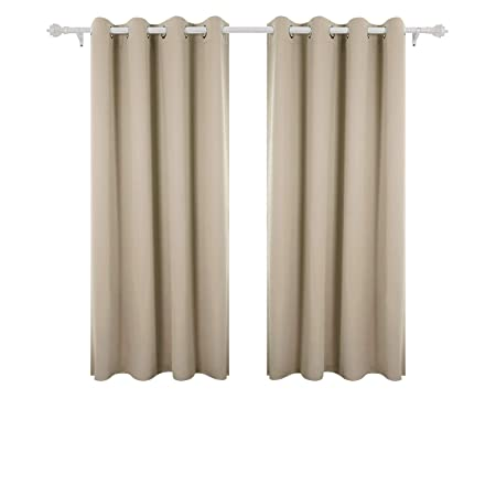 Deconovo Super Soft Blackout Curtains Thermal Insulated Eyelet For Nursery With Two Matching Tie Backs