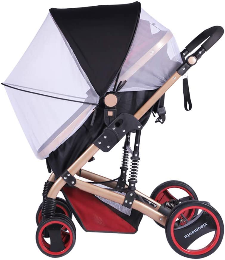 2-in-1 Baby Stroller Mosquito Net&Sun Shade Canopy,Baby Stroller Sun Shade Canopy,Universal Baby Sunshade,Sleep Aid for Pushchairs,Black 61bWnNDaSRL