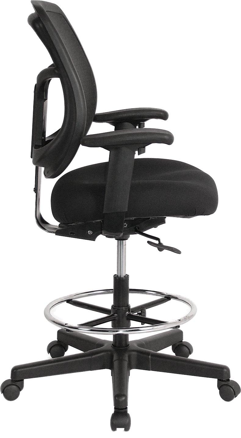 Amazon.com: Eurotech Seating Apollo DFT9800 Drafting Stool, Black: Kitchen  U0026 Dining