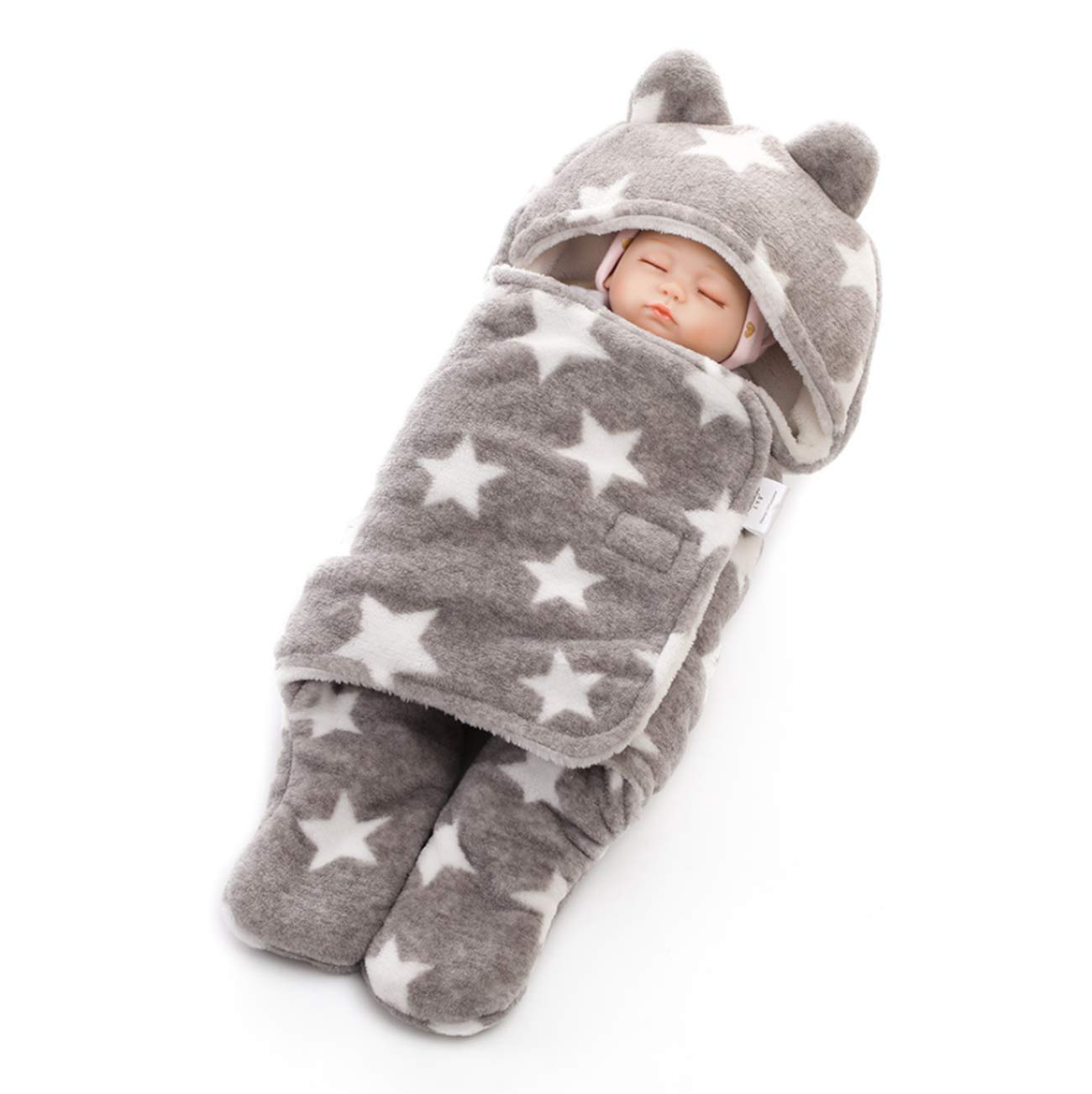 XIUHAO Newborn Sleeping Bag, Baby Bag, Hat with Thick Print Comfortable and Warm, for Small Baby Stroller by XIUHAO