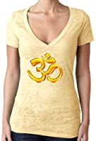 Yoga Clothing For You Ladies 3D OM V-neck Burnout Tee Shirt