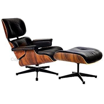 Amazon.com: Eames Silla de salón silla estilo – negro ...