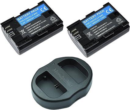 Mondpalast @ 2x Batería de repuesto LP-E6N LPE6N lpe6 1865mAh + 1x USB Cargador Doble para Canon EOS 5D Mark IV CANON 5D MARK 4 eos 5d mk4: Amazon.es: Electrónica