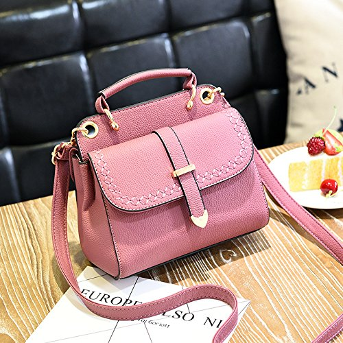 GUANGMING77 Bag Lady_Handtasche Schulter Messenger Bag Und Ms. Double zipper with rubber powder